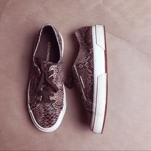 Used 2750 SUPERGA Snake-Print Sneakers in Brown